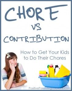 The Difference Between Chores and Contributions