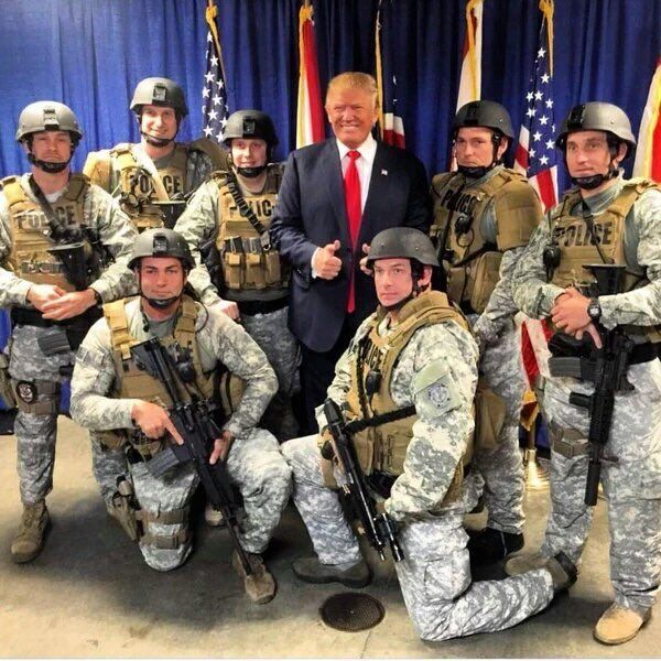 I am so glad our new President supports the men & women in uniform!