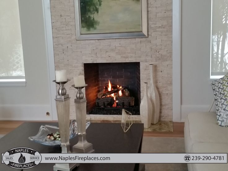 indoor vent free fireplace with electronic ignition.
