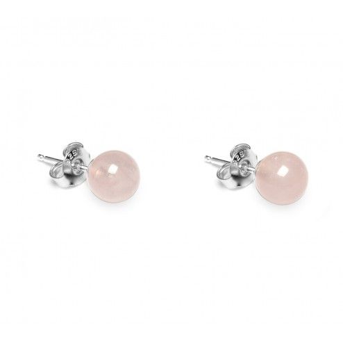 Lola Rose Genevive Rose Quartz Stud Earrings at aquaruby.com