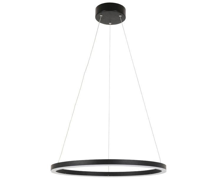 Ledlux Circa Ring  Lumen Dimmable Pendant In Black