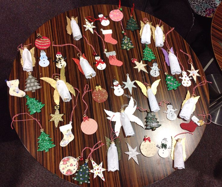 Christmas Decorations made by the lovely ladies of the craft group.