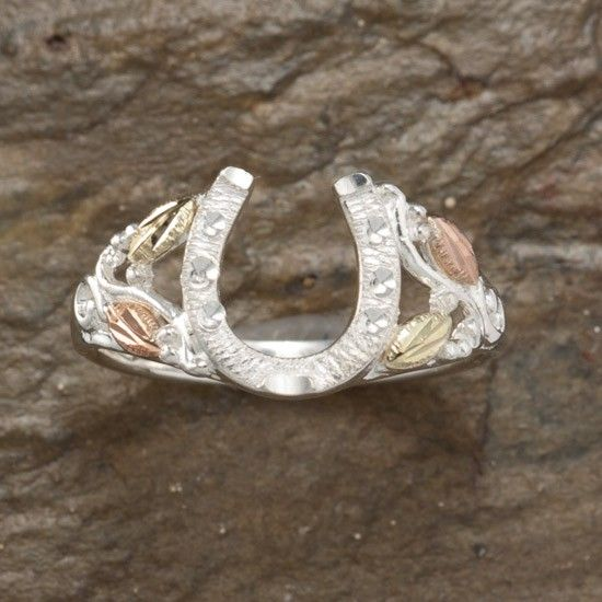 Black Hills Gold Filagree Horseshoe Ring- i love black hills gold!!!!!!!!!!!!!!!
