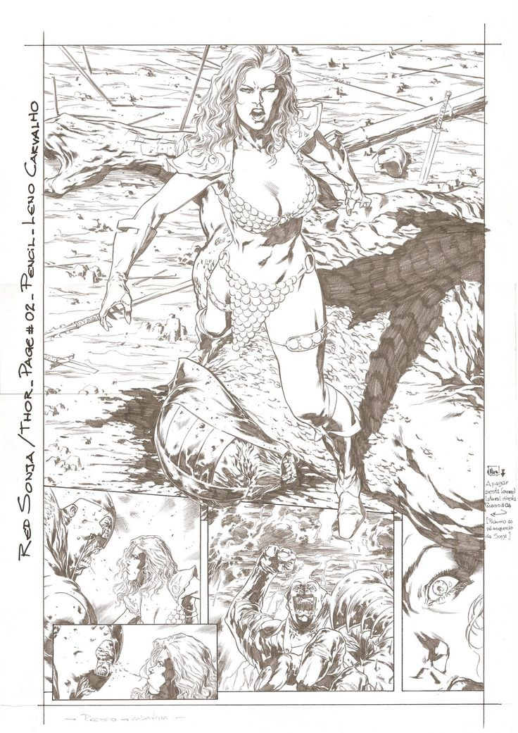 RED SONJA&THOR_PAGE#02_PENCIL_LENO CARVALHOversion02