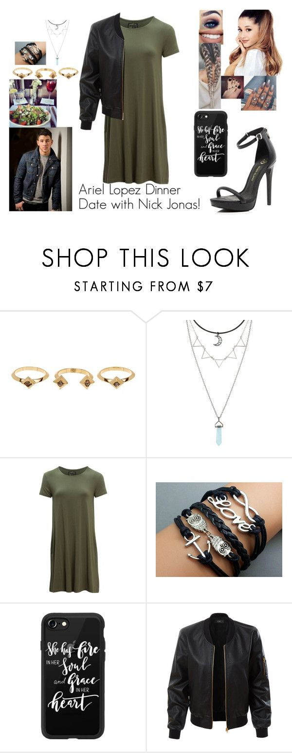 """Ariel Lopez Dinner Date with Nick Jonas!"" by safia4life ❤ liked on Polyvore featuring Sephora Collection, House of Harlow 1960, Hot Topic, United by Blue, Casetify and LE3NO"