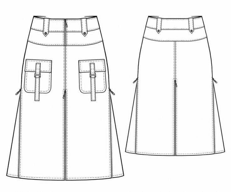 Cargo Skirt Pattern 56