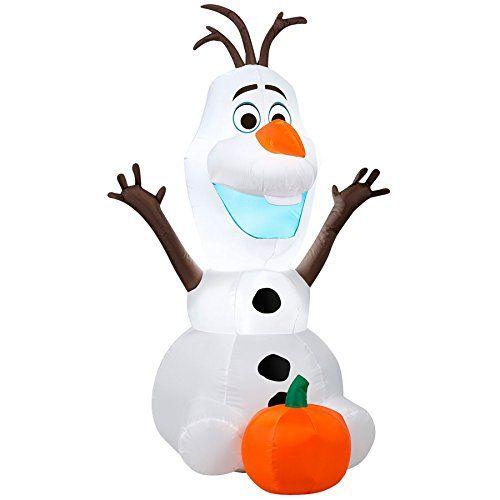Disney Frozen Olaf 3.5 Foot Halloween Inflatable Blow Up Outdoor Yard Decoration @ niftywarehouse.com #NiftyWarehouse #Disney #DisneyMovies #Animated #Film #DisneyFilms #DisneyCartoons #Kids #Cartoons