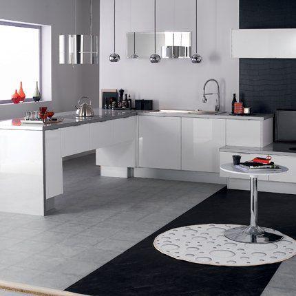 Les 25 meilleures id es de la cat gorie cuisine blanc laqu sur pinterest cuisine noir laqu for Cuisine gris et blanc deco