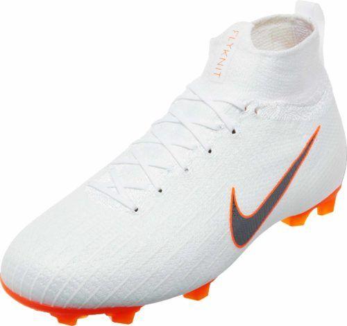 new style 0b911 c0cb1 Nike Kids Mercurial Superfly 6 Elite FG – White/Total Orange ...