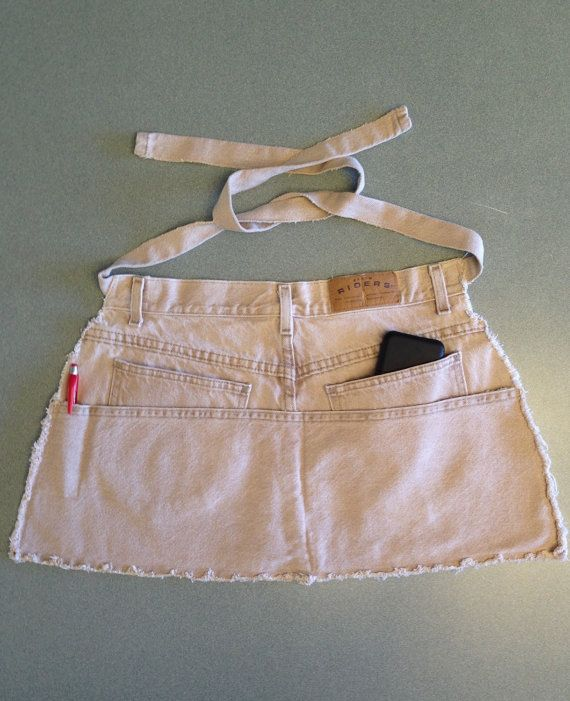 Garden apron utility apron half apron upcycled by flowersnfabric                                                                                                                                                                                 More
