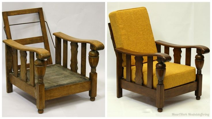 Upholstery Liberty chair, before and after.