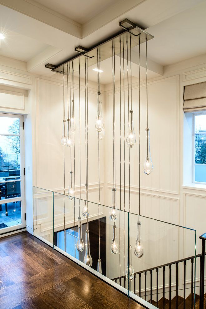 Foyer Chandelier Ideas Hall Contemporary With Seattle Interior