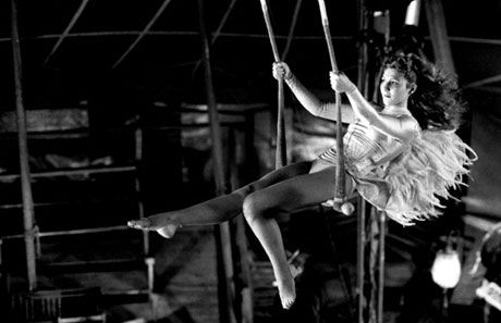 "The beautiful Solveig Dommartin in Wim Wender's ""Wings of Desire."""