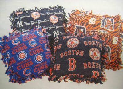 MLB & NFL Craft: No-Sew-Fleece-Pillows! - J Fabrics Store Newsletter Blog