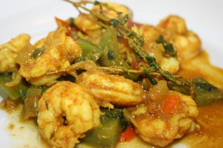 Curried Shrimp  http://caribbeanpot.com/category/fish-recipes/
