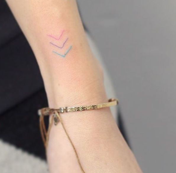 Colorful arrows by Hello Tattoo