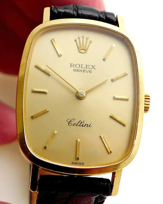 Rolex Ladies 18K Yellow Gold Cellini w/ Cartier Crocodile Band