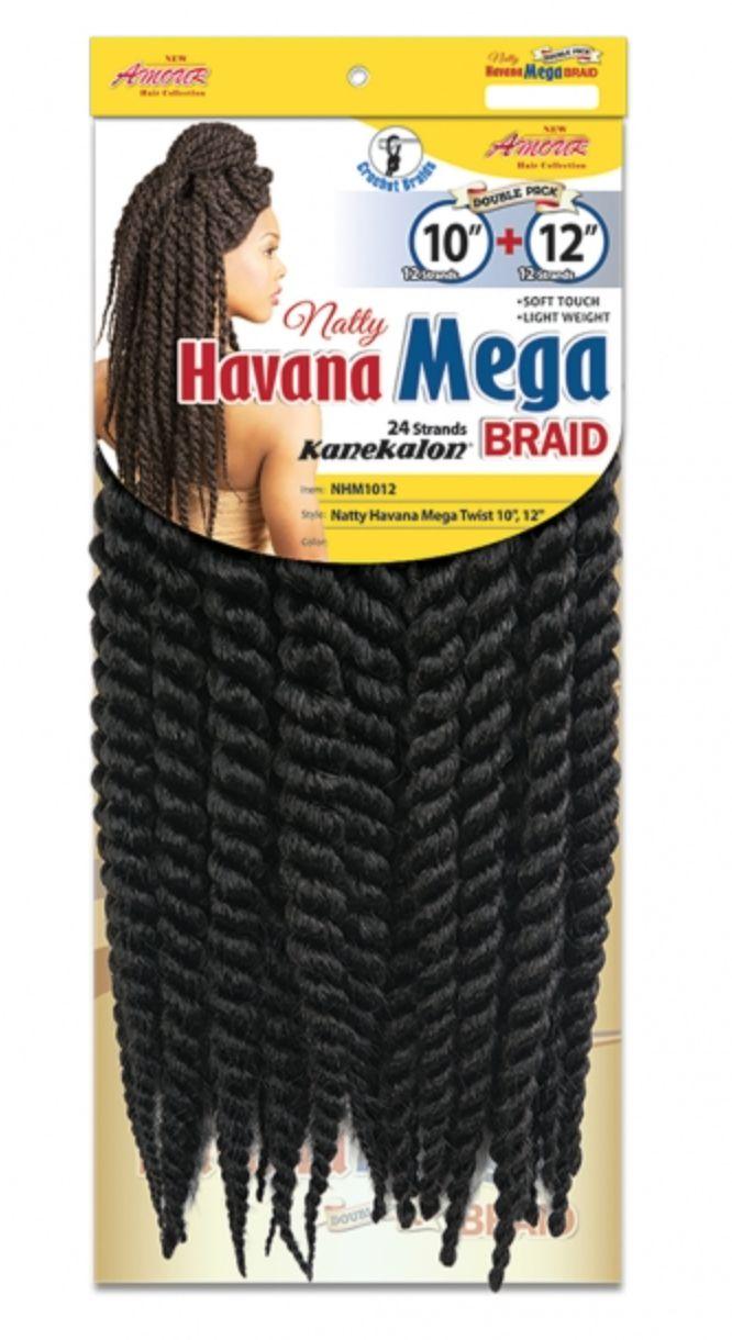 "Chade Fashion Havana Mega Twist 10""+12"""