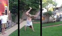 Old Man Cartwheel Fail