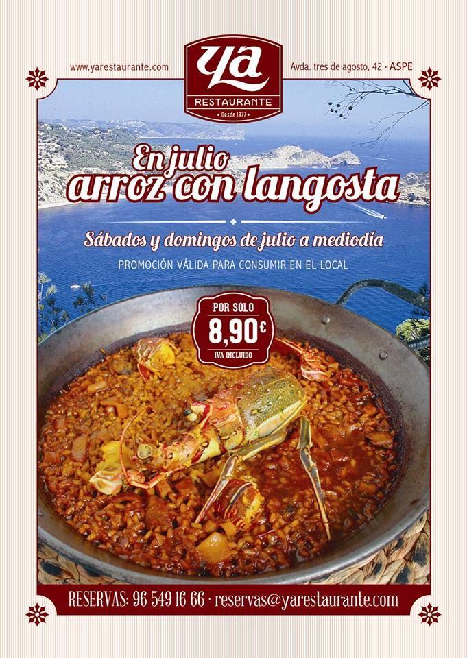 promoción #julio2014 - #cateringya #arroz con #langosta