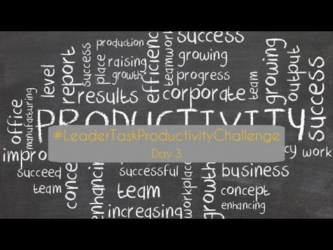Good day, Wednesday! And hello spring!  You shouldn't forget about your job in spring too! And here we will help you: it's the third day of our #LeaderTaskProductivityChallenge!  https://www.youtube.com/watch?v=tunVTfiCTGg