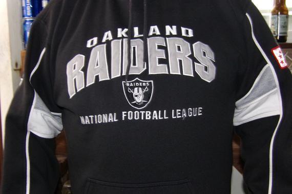on sale b7d33 142df NFL Embroidered Vintage Oakland Raiders Hoodie, Lee Brand ...