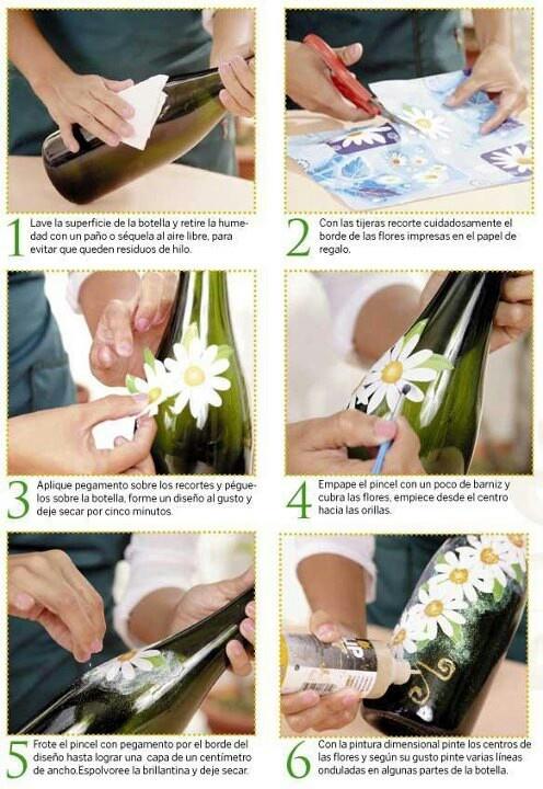 Como hacer decoupage sobre vidrio