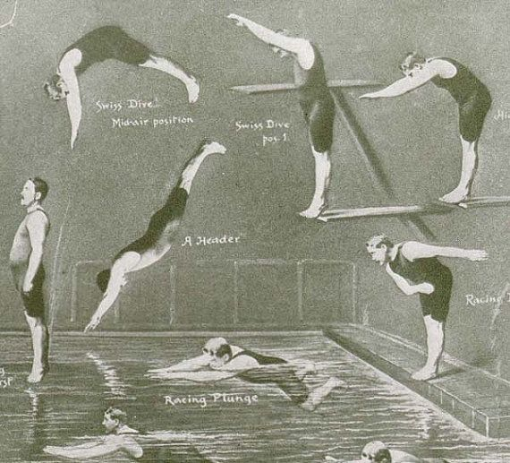 Men Swimming Diving Athletic Reference Chart by SurrenderDorothy, $26.89