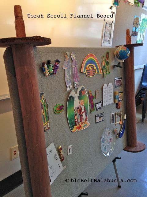 Torah Felt Board. How Fun! Children love putting on and taking off the felt objects from the board.