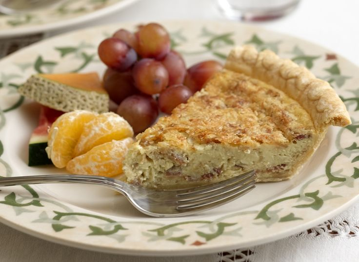 Bacon and Gruyére Quiche is rich and delicious! Replace the bacon ...