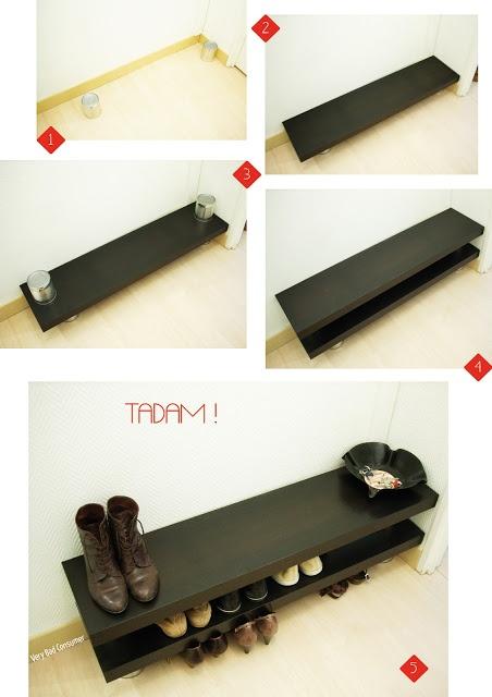 17 meilleures id es propos de meuble chaussures sur - Fabriquer etagere chaussure ...