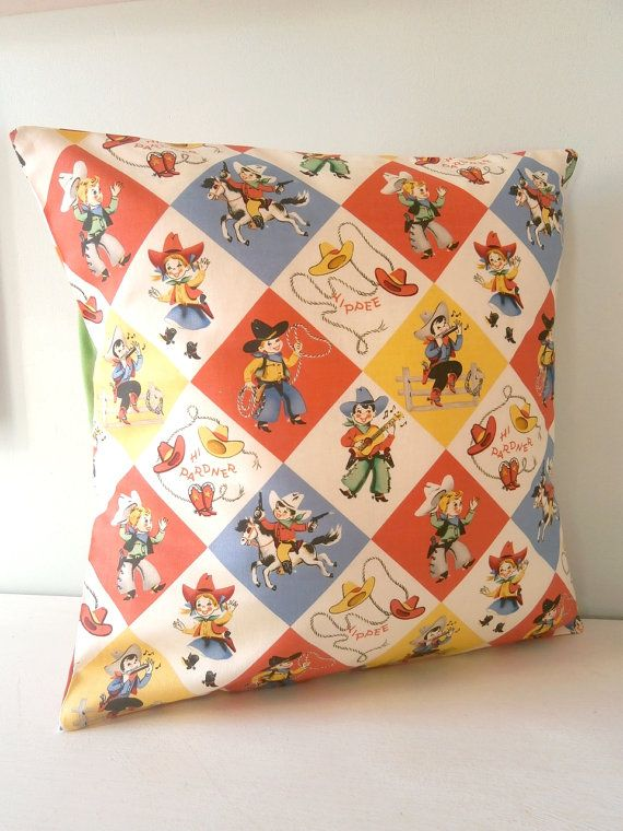 cowboy wild west western pillow cushion cover by