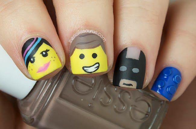 The Nailasaurus   UK Nail Art Blog: The Lego Movie Nail Art