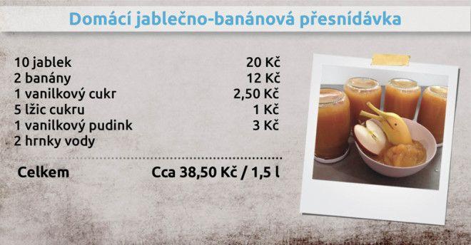 Recepty Ládi Hrušky - Domácí jablečno-banánová přesnídávka