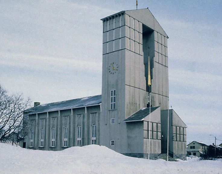 Vadsø Kirke, Finnmark, Norway, Magnus Poulsson, 1958 Photo copyright to The University Library of Tromsø