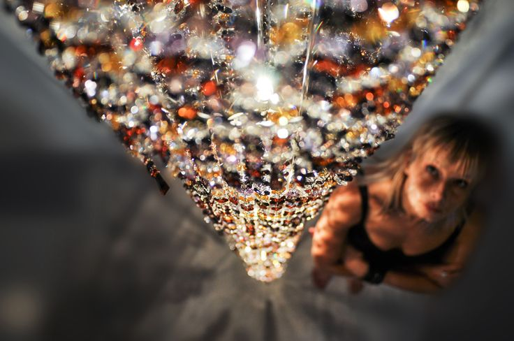 Fjord crystal chandelier #Manooi #Chandelier #CrystalChandelier #Design #Lighting #Fjord #luxury #furniture