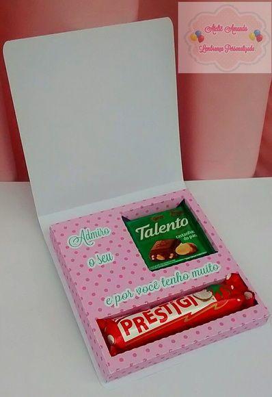 Caixa p/ mini talento e prestigio. | Amanda Araujo arte em papel e decorações | Elo7