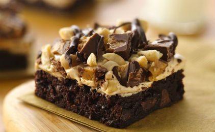Μπράουνις σοκολάτας με φυστικοβούτυρο