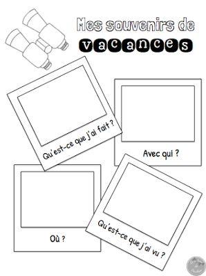 Le cahier de Pénélope: 5 activités à faire le premier jour d'école!