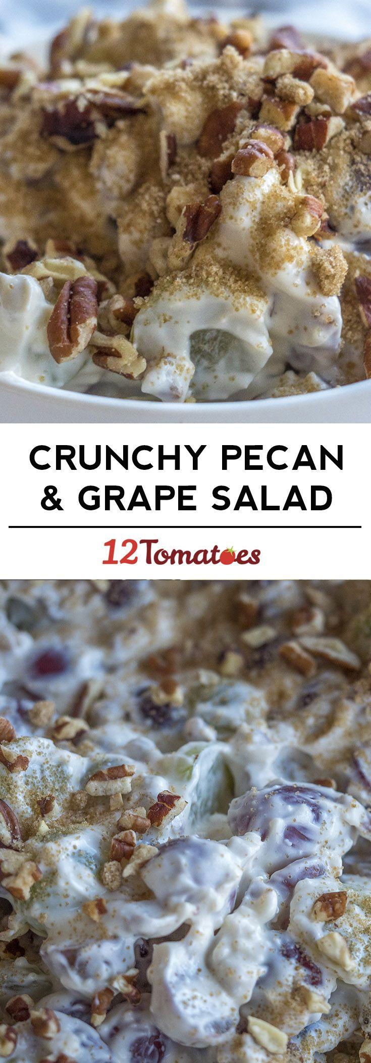 Crunchy Pecan Grape Salad