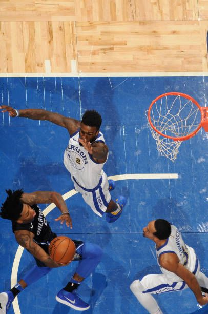 Elfrid Payton of the Orlando Magic shoots the ball against the Golden State Warriors on December 1 2017 at Amway Center in Orlando Florida NOTE TO...