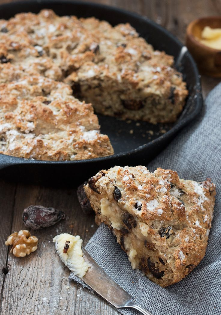 Fig Walnut Soda Bread & Honey Butter via @SeasonsSuppers (inspiration to create a grain-free version)
