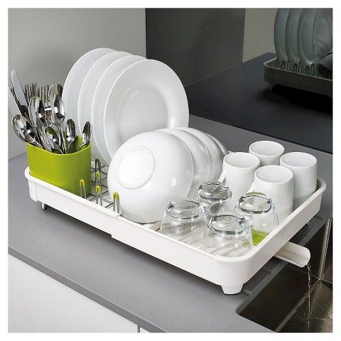 Joseph Joseph Extend Expandable Dishrack with Draining Plug - White