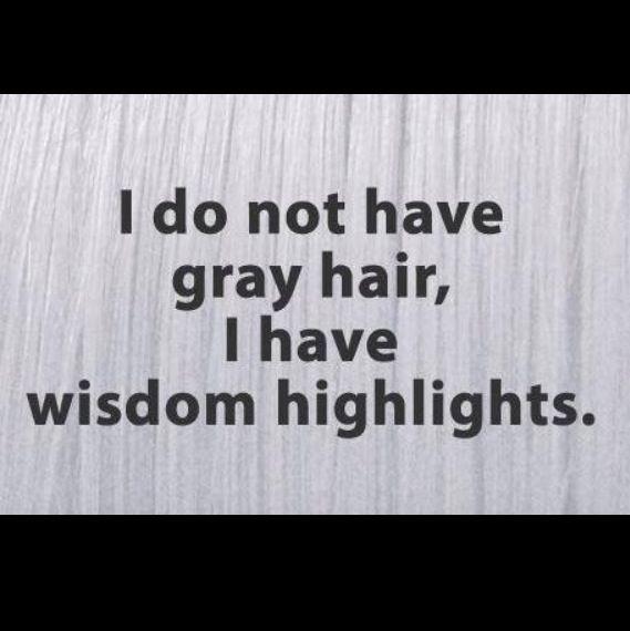 Gray Hair = Wisdom Highlights