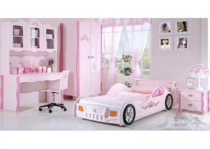Roze meisjeskamer met autobed, model Prinses | Meisjeskamers