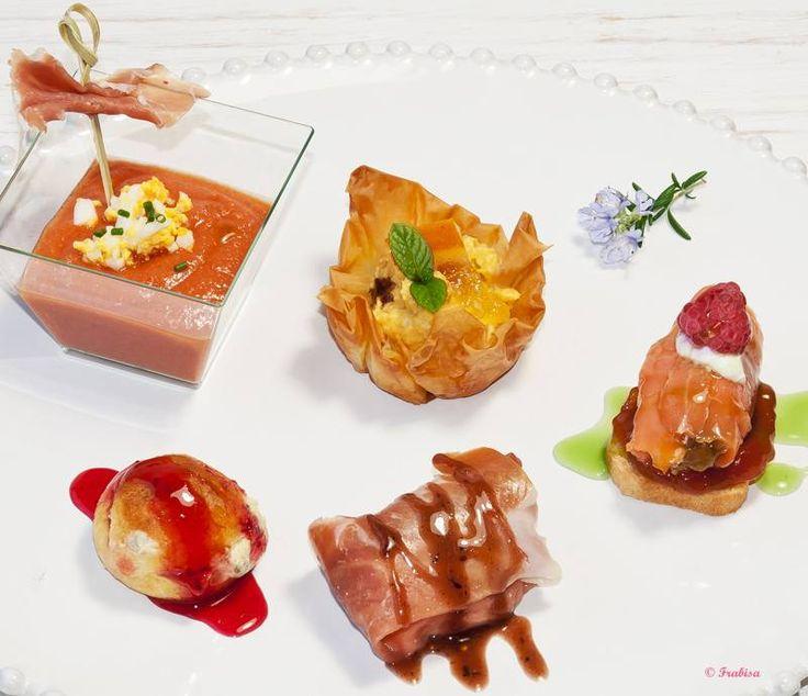 Frabisa aperitivos cinco en un plato aperitivos y dem s for Platos aperitivos