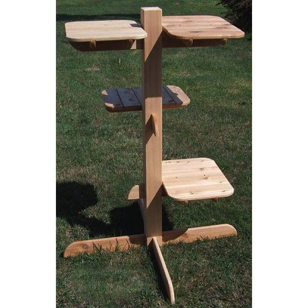 52 Inch Double Perch Outdoor Cat Tree - 4 Perches, 3 Levels