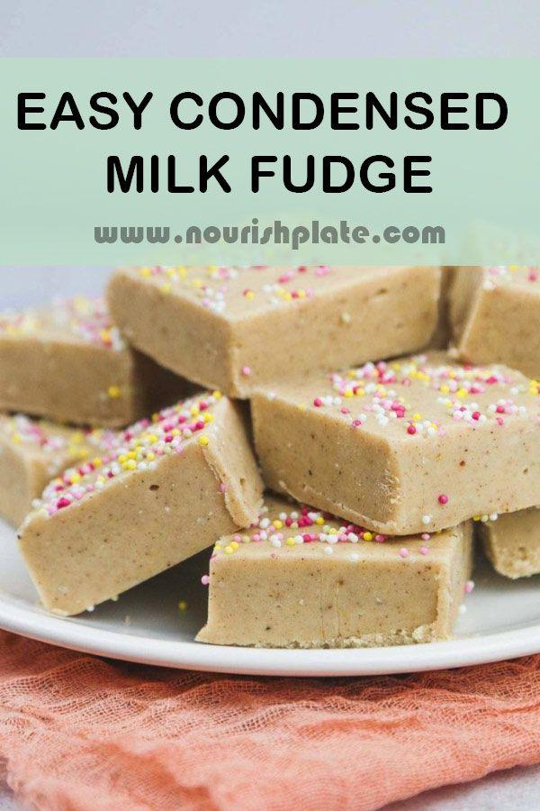 Easy Condensed Milk Fudge Recipe In 2020 Fudge Recipes Fudge Ingredients Cooking Chocolate