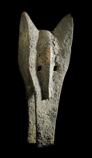 Bamana Kono FRONT MASK (Elephant) Mali. H 89.5 cm.