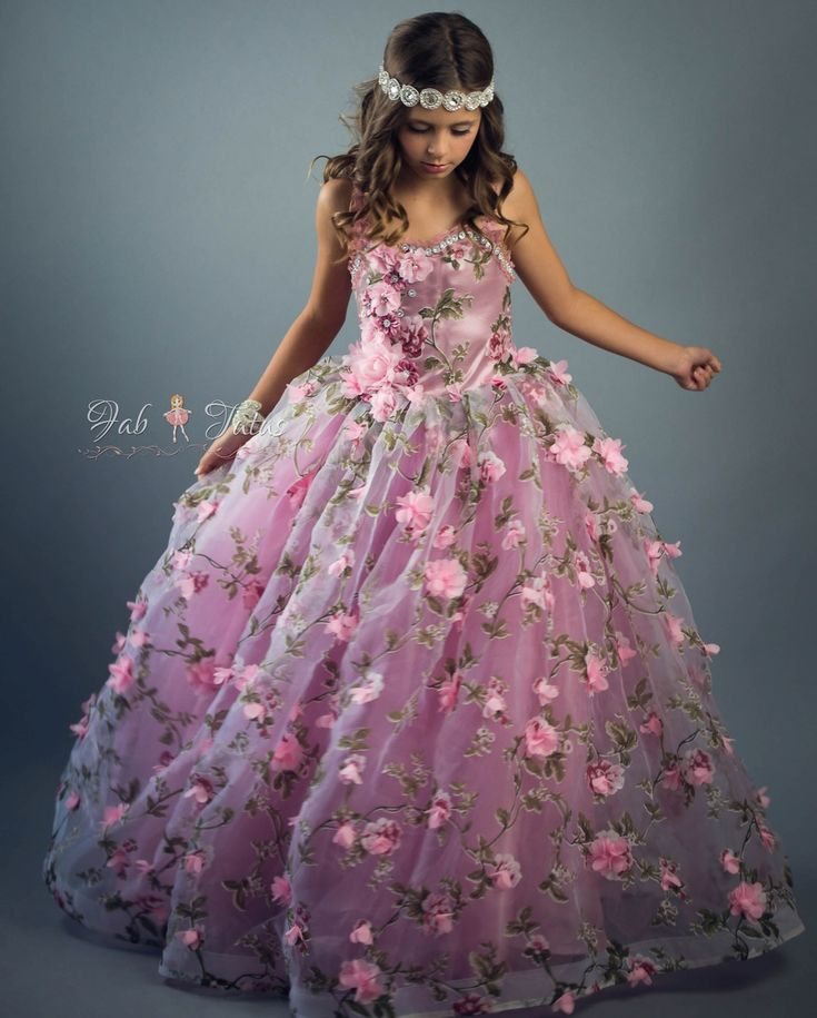"FabTutus | Products | Flower Girl Dress | ""Mauve Rose"" Dress - Jardin Des Fleurs Collection"
